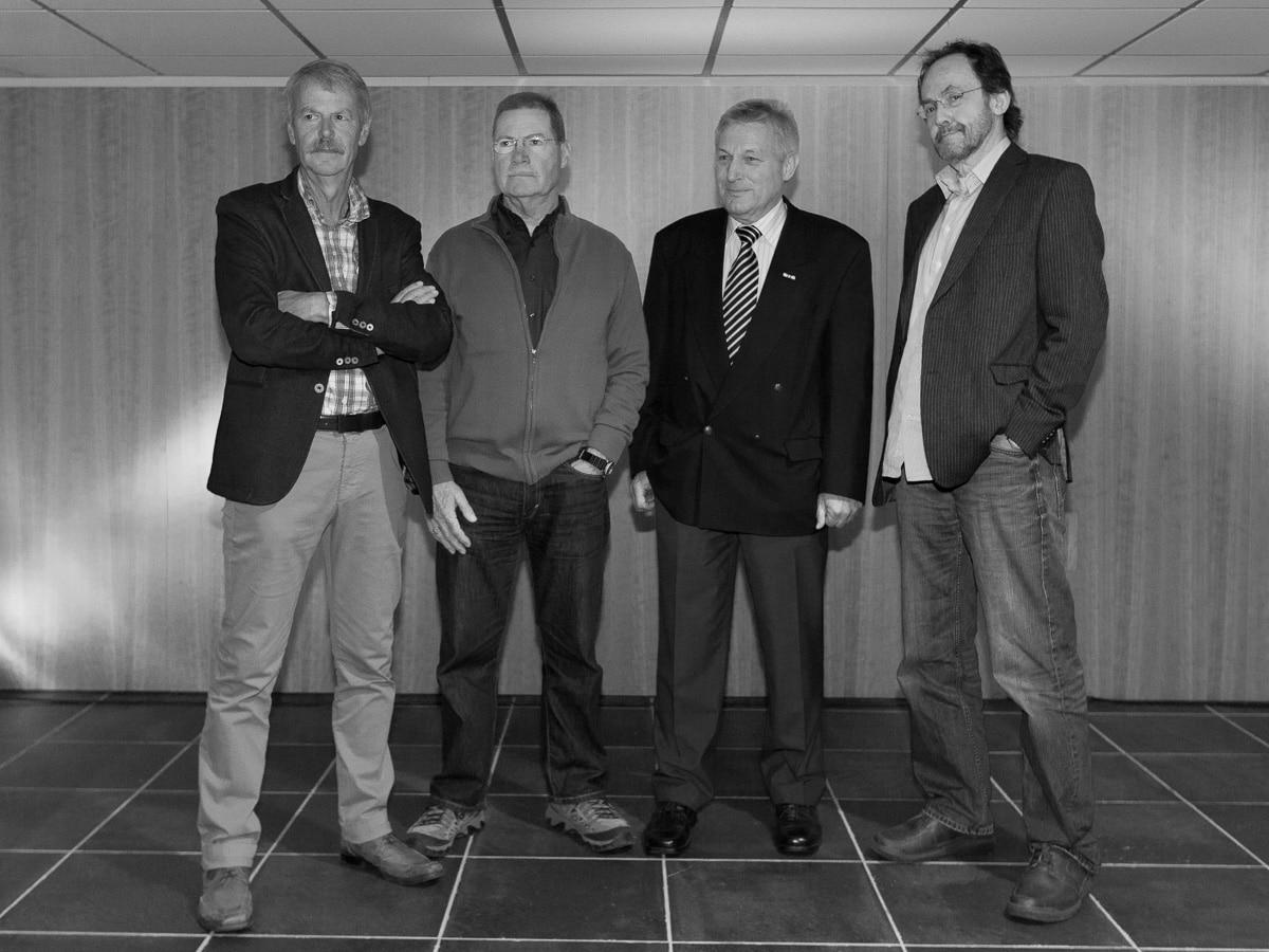 De vier initiatiefnemers in 2013