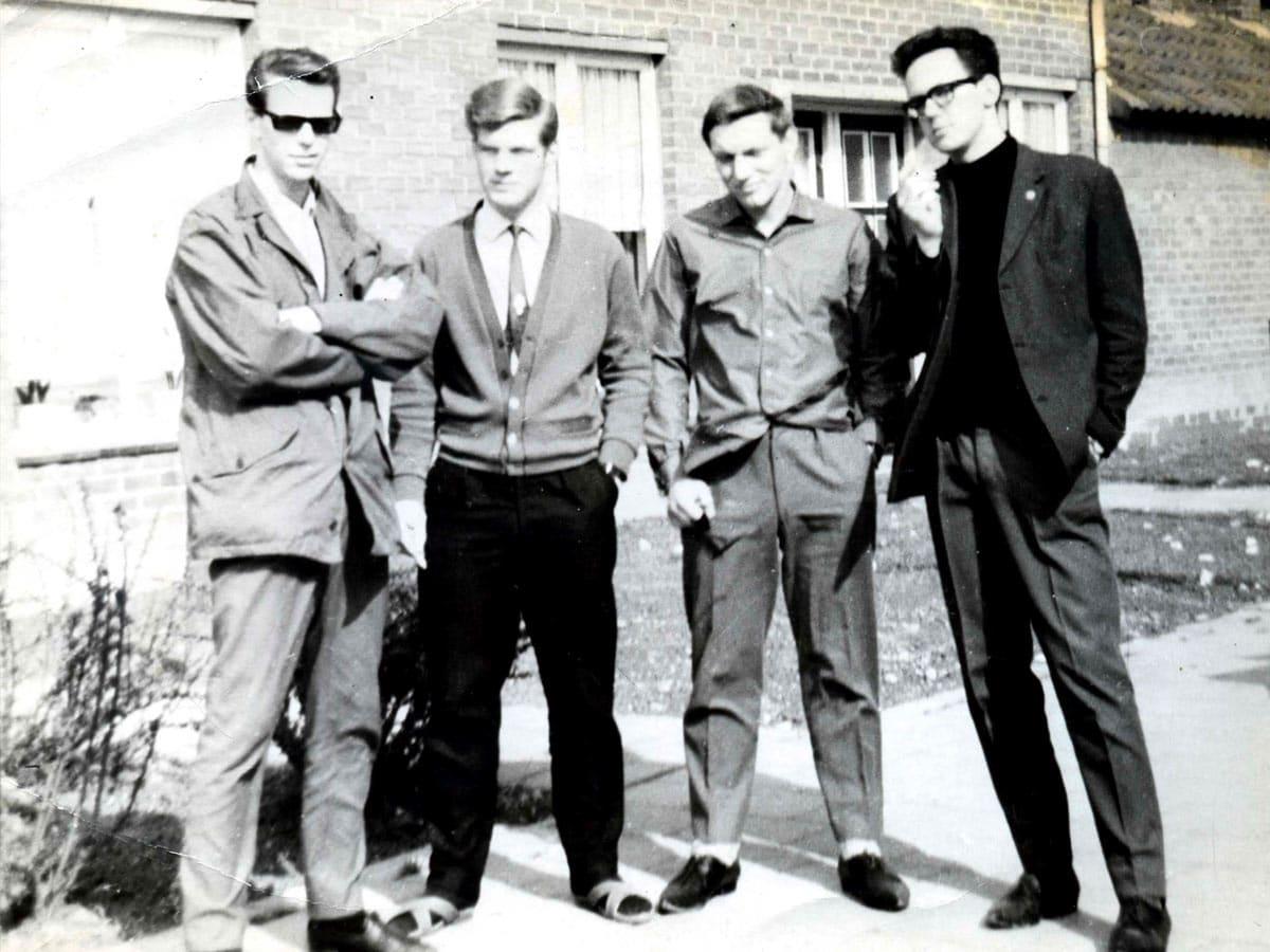 De vier initiatiefnemers in 1964